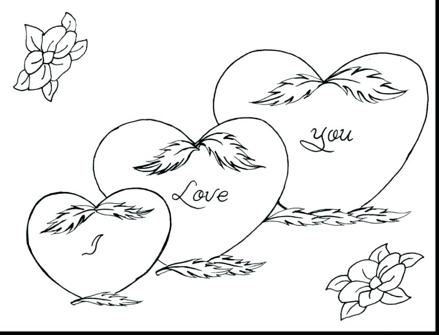 863x660 Valentines Day Hearts Coloring Pages Valentines Hearts Coloring