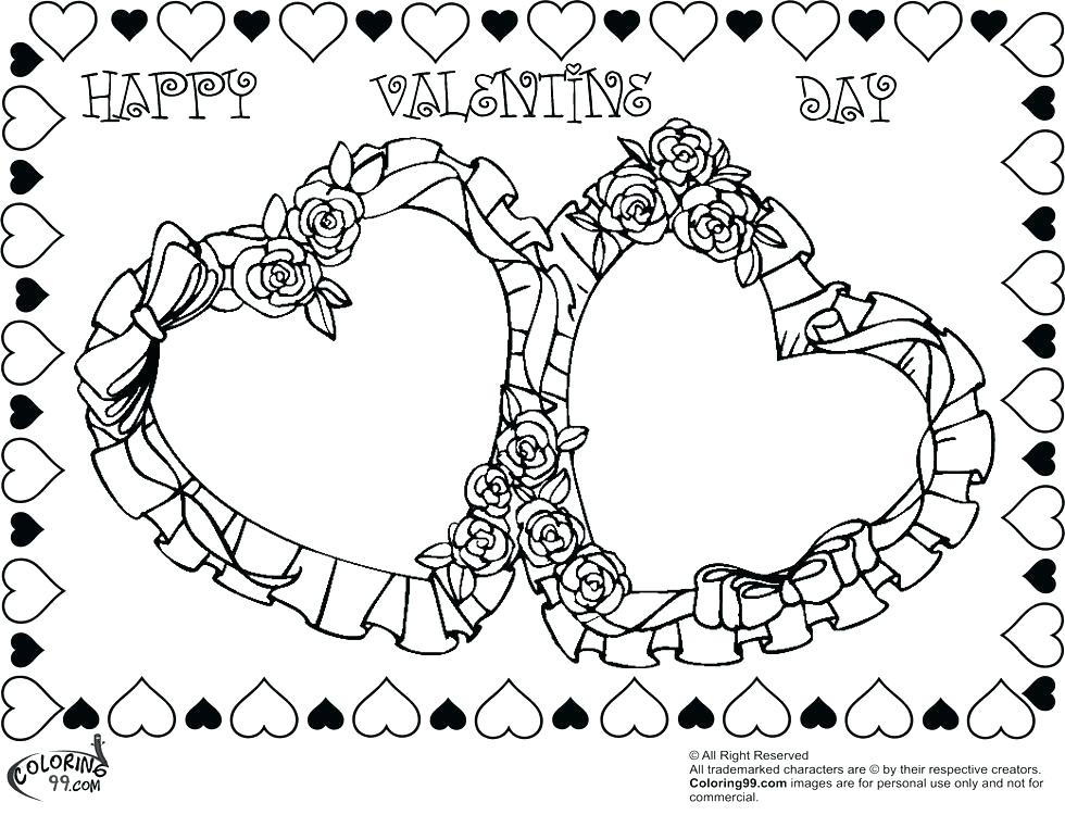 980x750 Valentines Hearts Coloring Pages Stunning Design Coloring Page