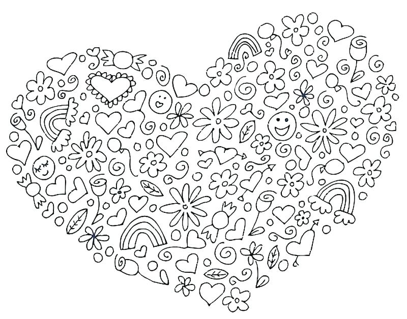 800x628 Coloring Pages Heart Valentines Day Hearts Coloring Pages Heart St