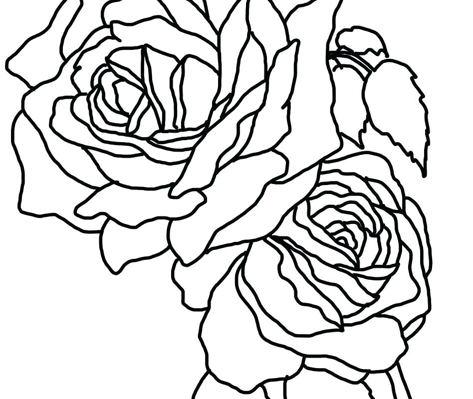 948x800 Heart And Roses Coloring Pages Color Pin Drawn Rose On Fire Love