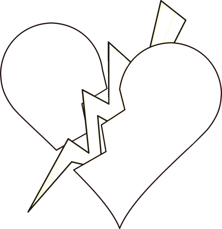 777x800 Heart And Lightning Coloring Pages