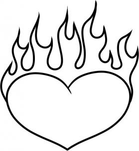 279x302 Valentines For Gt Hearts On Fire Coloring Pages Coloring Pages