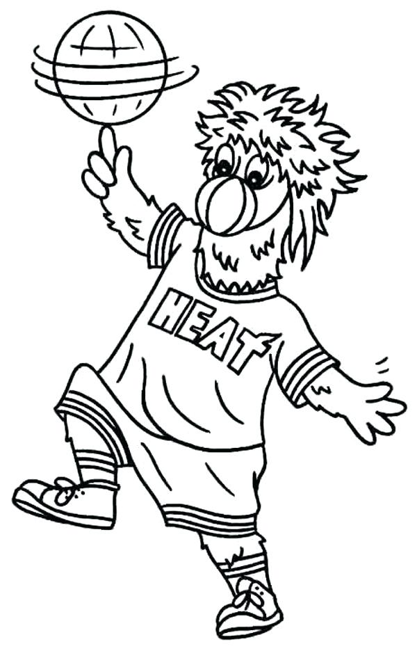 600x936 Miami Heat Coloring Pages Heat Jersey Coloring Pages Miami Heat