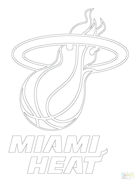564x752 Miami Heat Printable Coloring Pages Kids Coloring Heat Free