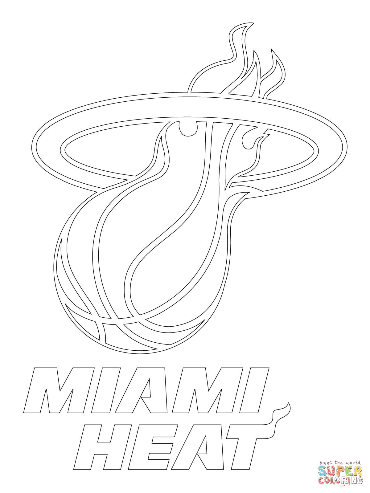 1200x1600 Surprising Miami Heat Coloring Pages Preschool In Sweet Miami Heat