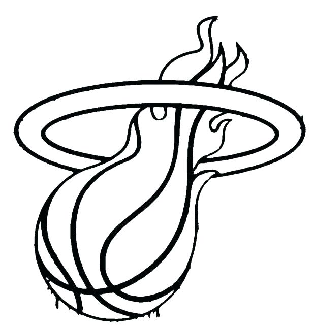 618x644 Game Coloring Page Color Miami Heat Logo Murs