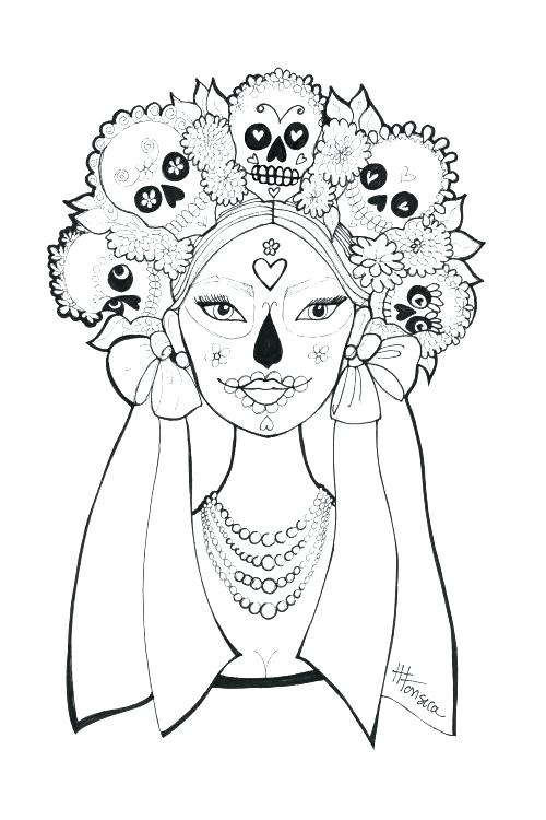 500x750 Day Of The Dead Coloring Pages Day Of The Dead Coloring Pages