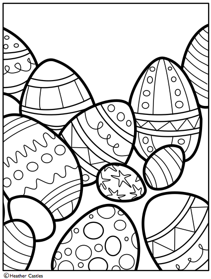 425x561 Free Easter Coloring Page