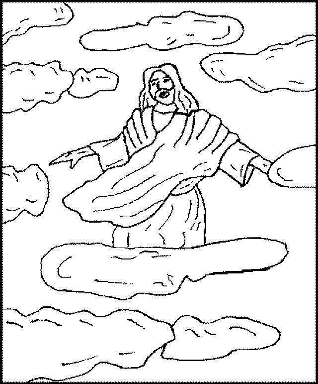 640x771 Ascension Of Jesus Christ Coloring Pages