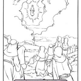 268x268 Coloring Page Jesus In Heaven Archives