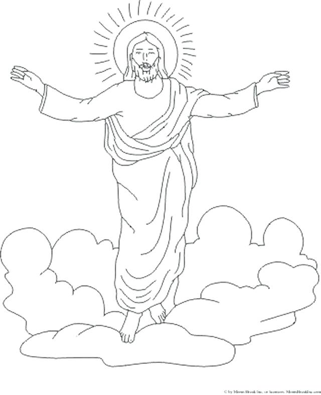 640x787 Coloring Page Of Jesus Heaven Coloring Pages Kids Coloring Pages