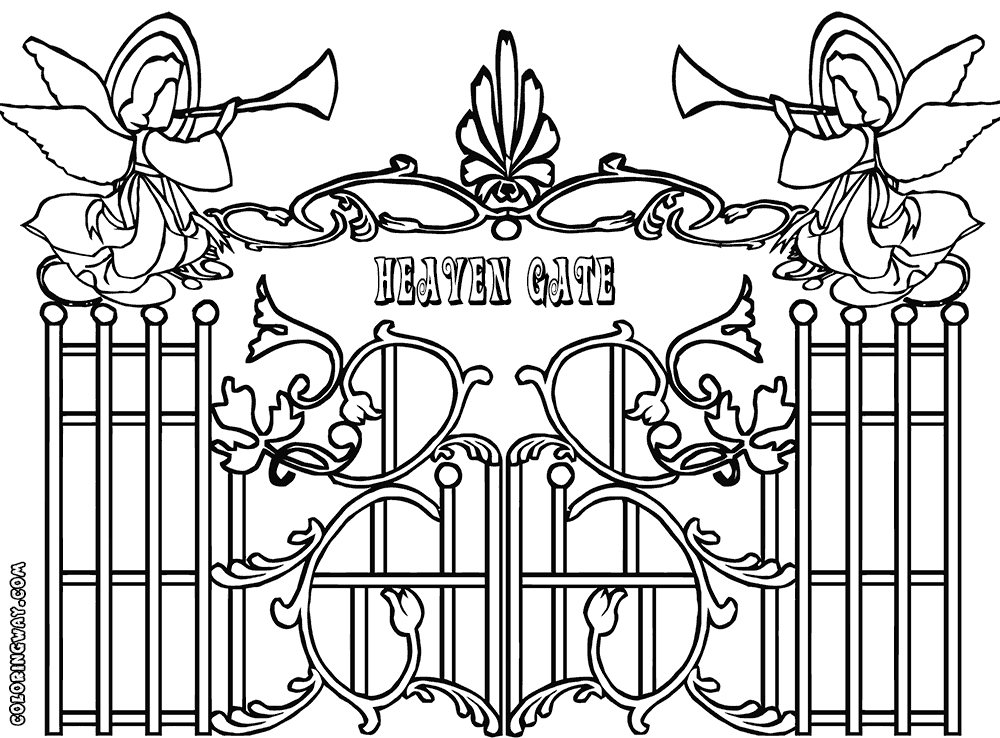 1000x738 Heaven Coloring Pages Collections Free Coloring Pages