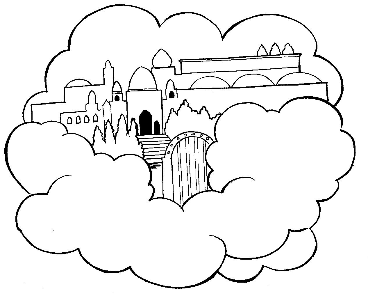 1266x1017 Heaven Coloring Pages Heaven Colouring Pages