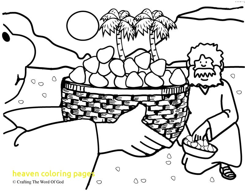 800x626 Heaven Coloring Pages With Manna From Heaven Coloring Page