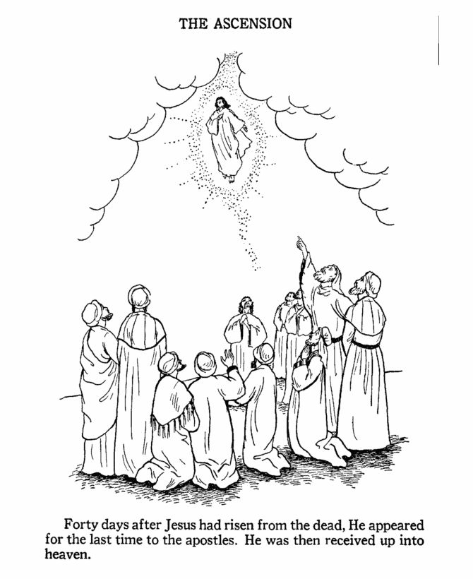 670x820 Jesus Ascends To Heaven Coloring Page Beautiful Best Ascension
