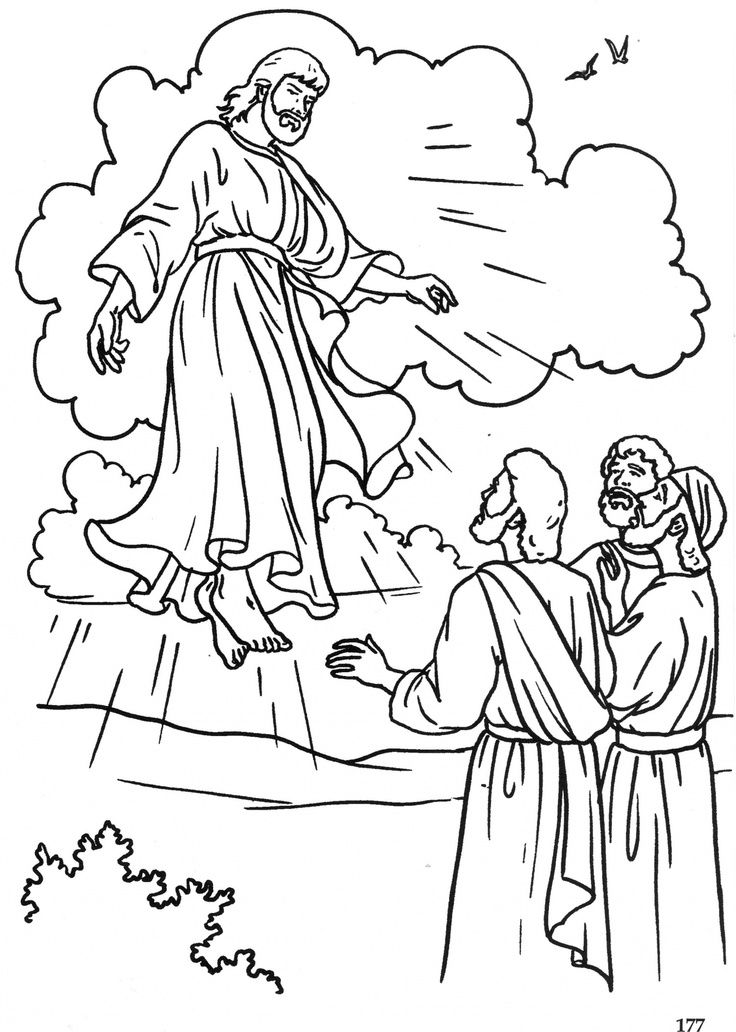 736x1032 Jesus Ascends To Heaven Coloring Page Elegant Jesus Drawing Heaven