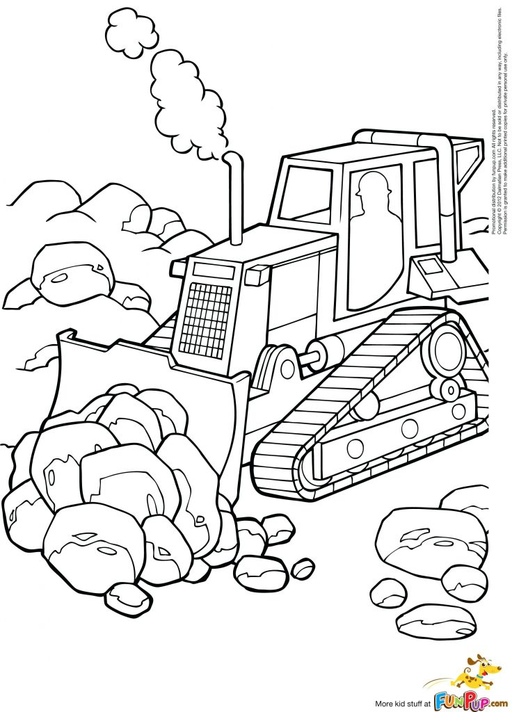 736x1024 Construction Equipment Coloring Pages