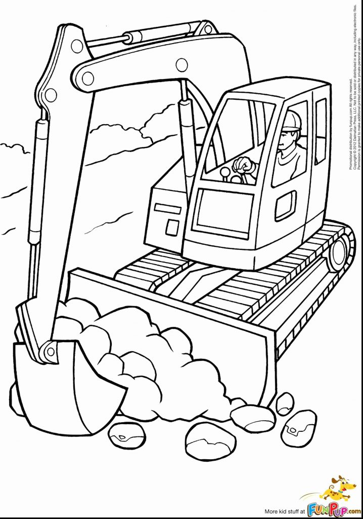 718x1024 Construction Equipment Coloring Pages Deeptown Club