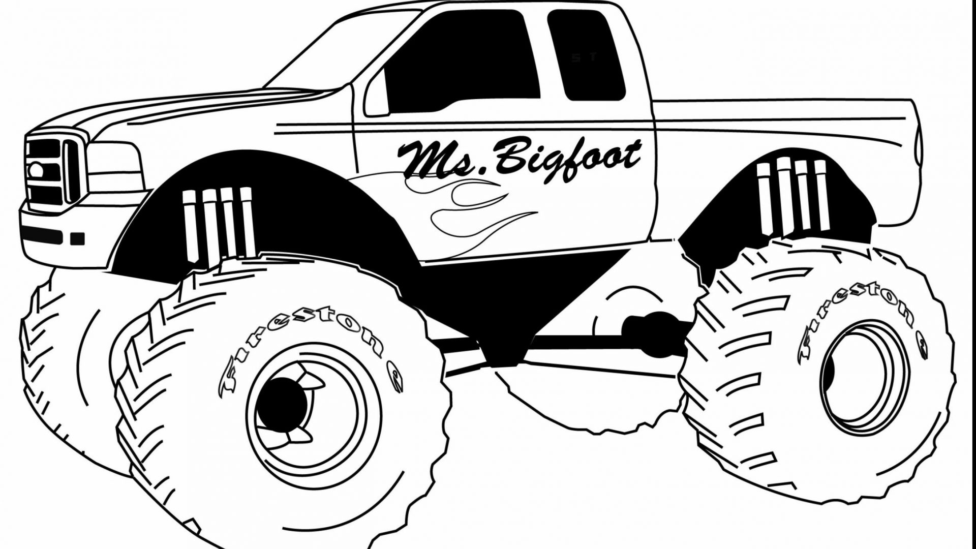 1920x1080 Printable Dump Truck Coloring Pages General Free To Color Trucks