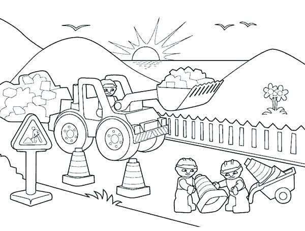 600x454 Reward Construction Equipment Coloring Pages Page