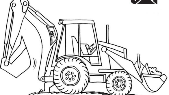 585x329 Wealth Excavator Coloring Page For Kids Transportation Pages