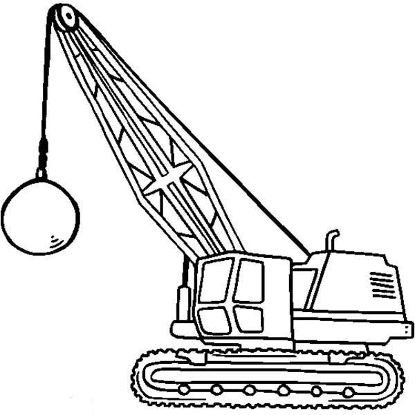 600x600 Wrecking Ball Coloring Pages