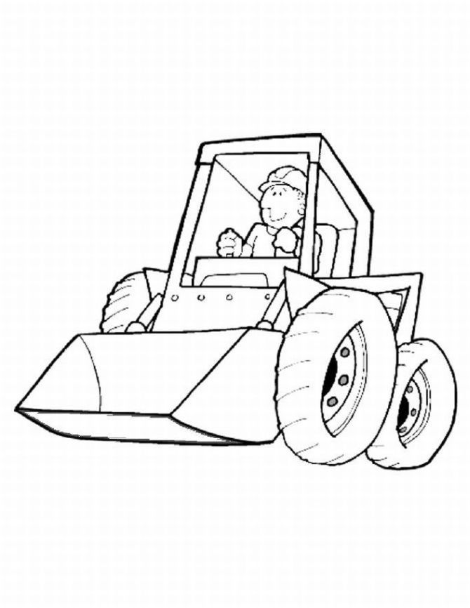 670x866 Construction Equipment Coloring Pages