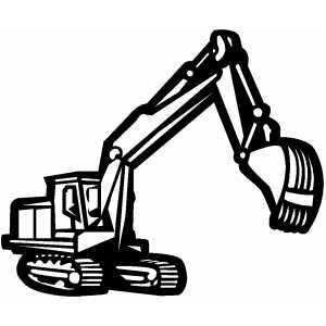 300x300 Construction Signs Printable Free Backhoe In Work Coloring Page