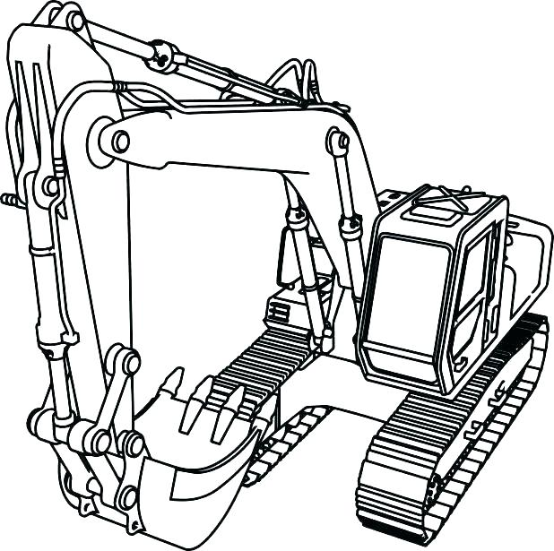 618x615 Bulldozer Coloring Page Auto B Good Coloring Pages Bulldozer