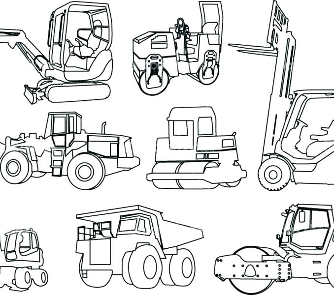 Heavy Equipment Coloring Pages At Getdrawings Com Free For