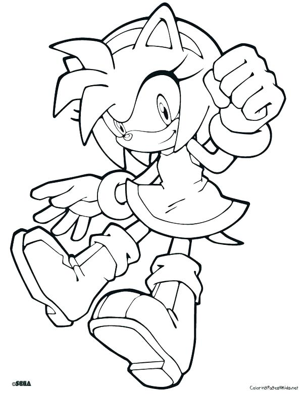 600x782 Printable Sonic The Hedgehog Coloring Pages Sonic Color Pages