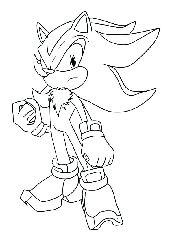595x842 Shadow The Hedgehog Coloring Pages Sonic The Hedgehog Coloring