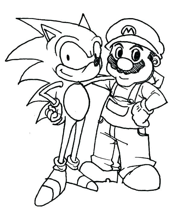 600x699 Coloring Pages Sonic Coloring Pages Sonic New Sonic The Hedgehog