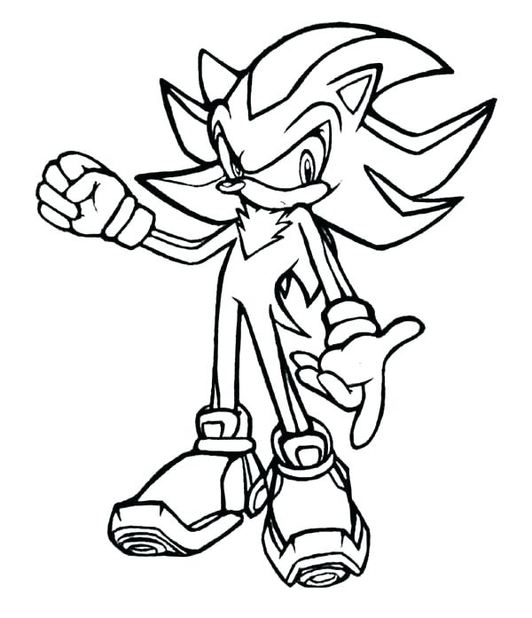 600x697 Shadow The Hedgehog Coloring Pages To Print Sonic Color Page