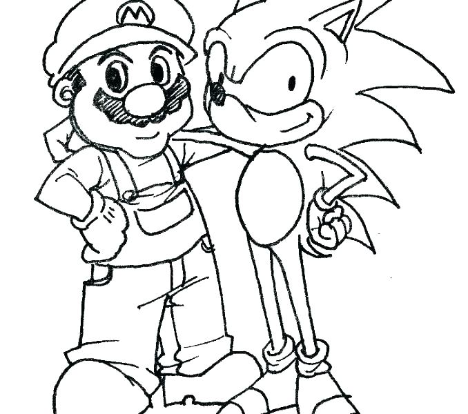 678x600 Sonic Hedgehog Coloring Pages Printable Underground Sha