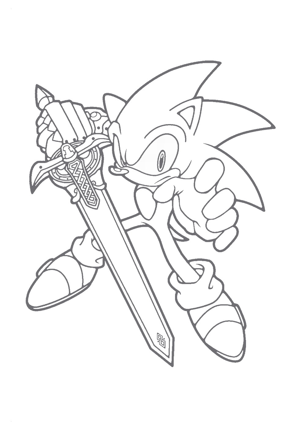 987x1400 Sonic The Hedgehog Coloring Pages