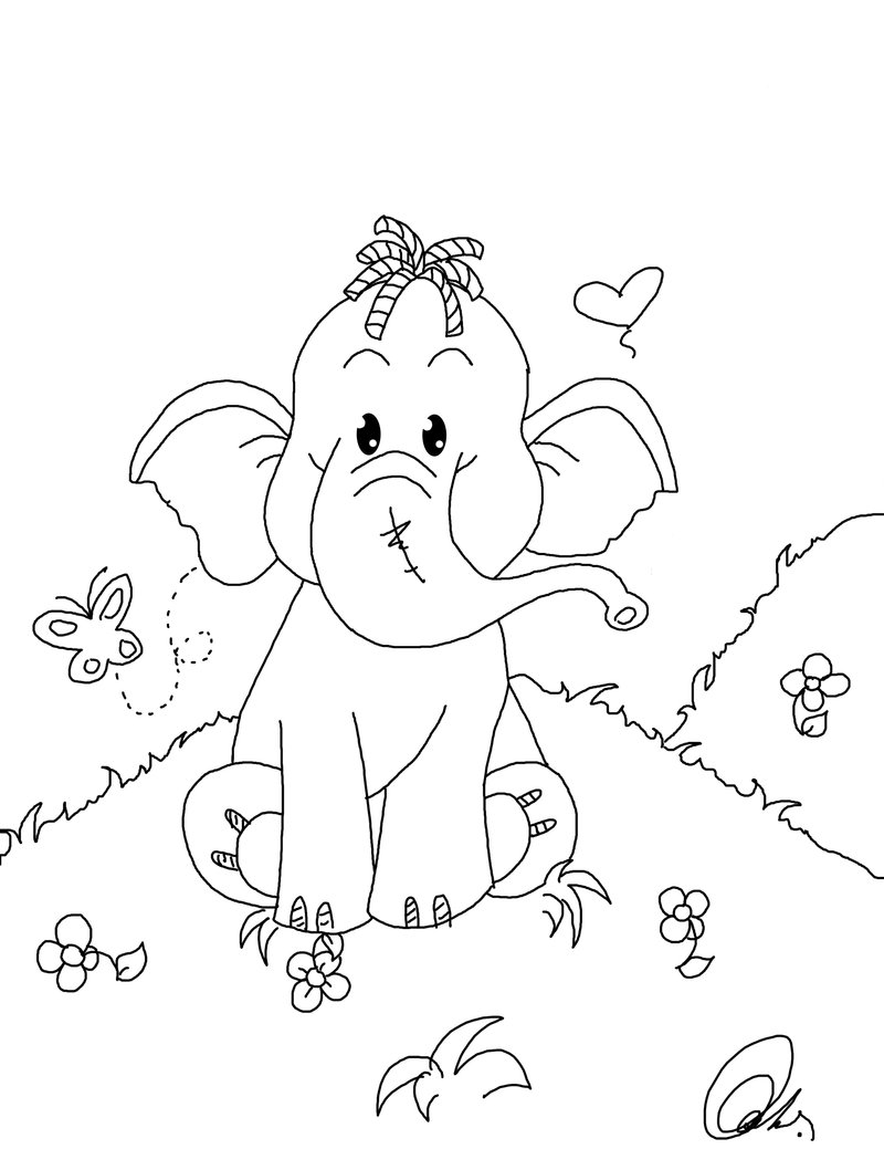 800x1058 Crammed Heffalump Coloring Pages Free Valentine Edge Day Pictures