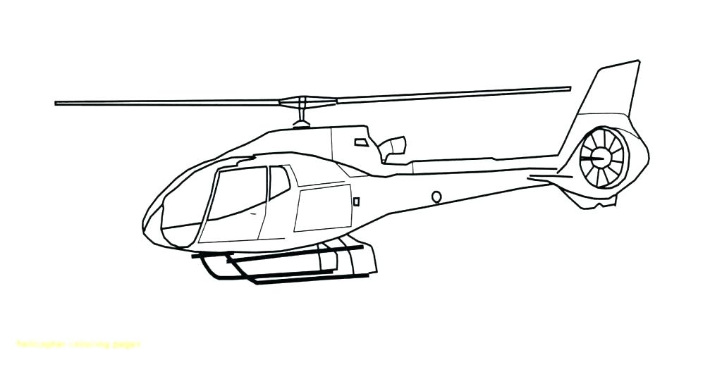 1024x521 Helicopter Coloring Page
