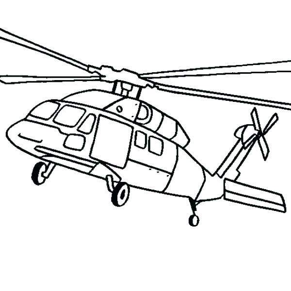 600x600 Helicopter Coloring Pages
