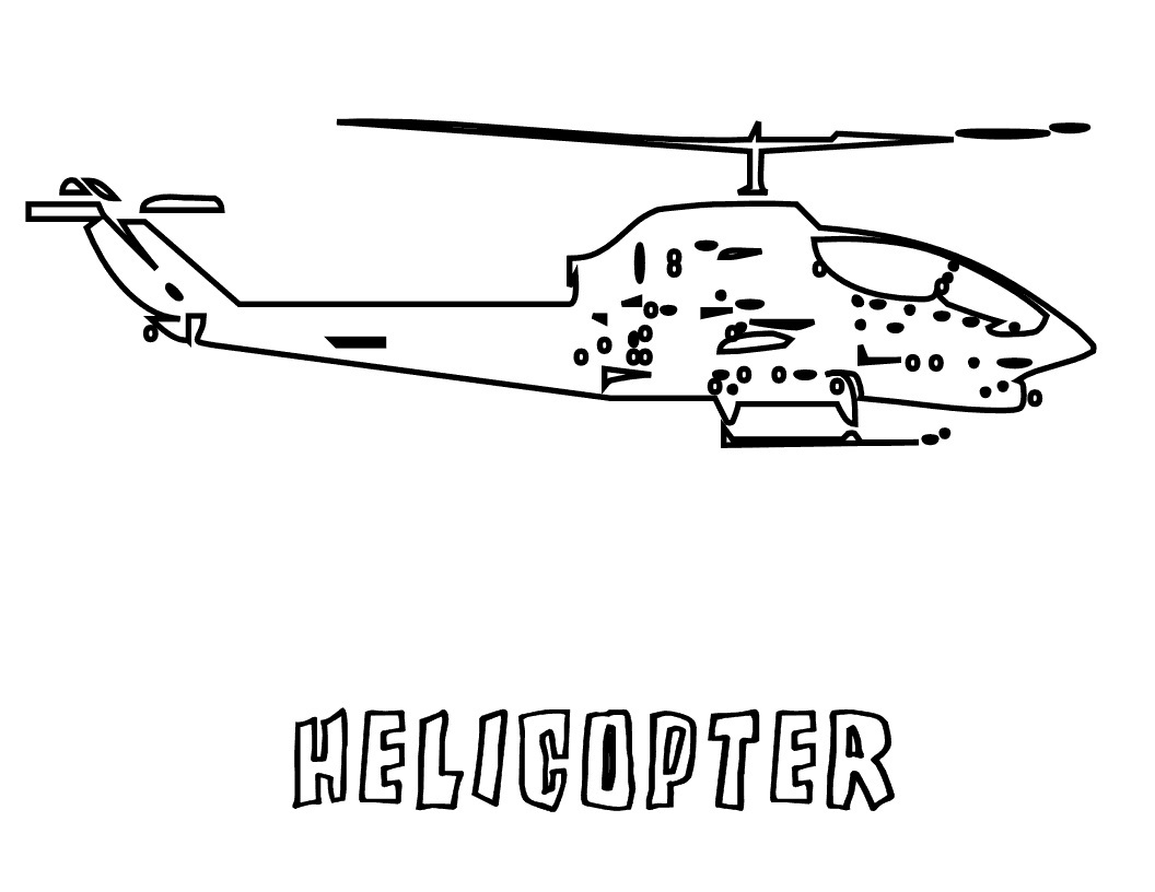 1056x816 Free Printable Helicopter Coloring Pages For Kids
