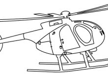 220x150 Helicopter Coloring Pages