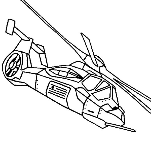 600x600 Drawn Helicopter Coloring Page