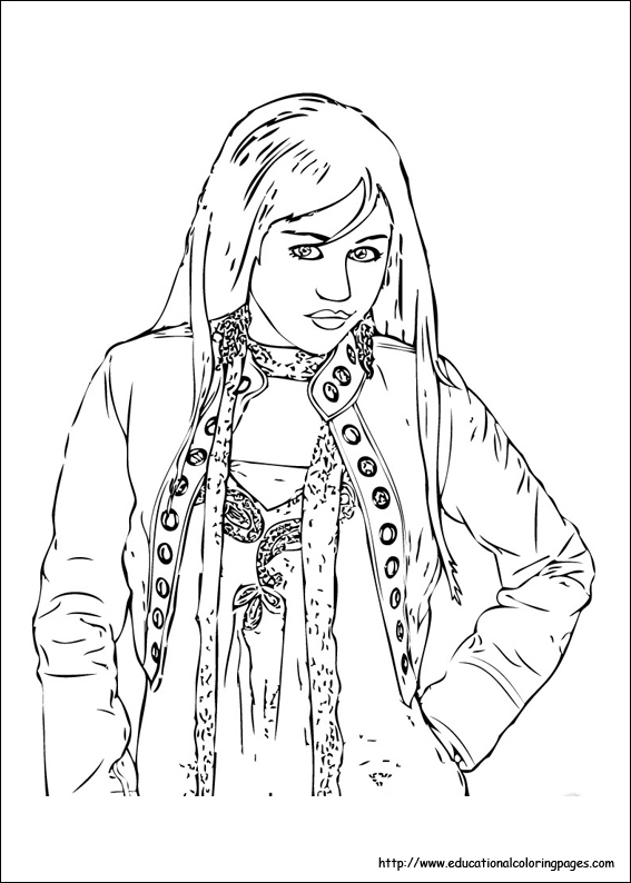 567x794 Hannah Montana Coloring Pages
