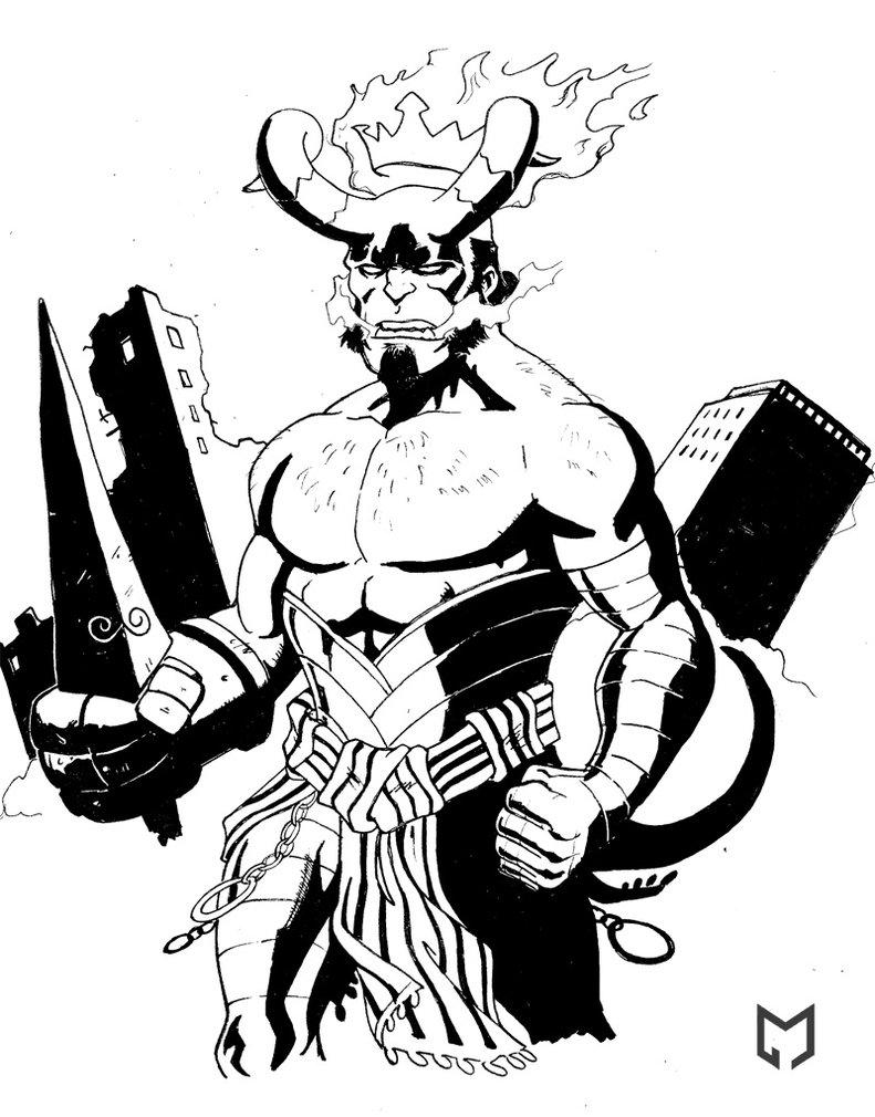 791x1010 Hellboy The Beast Bw