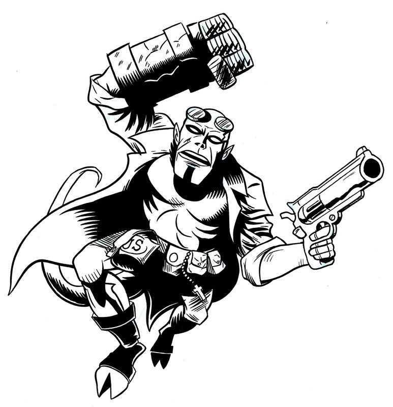 773x800 Hellboy Coloring Pages Coloring Page Zone