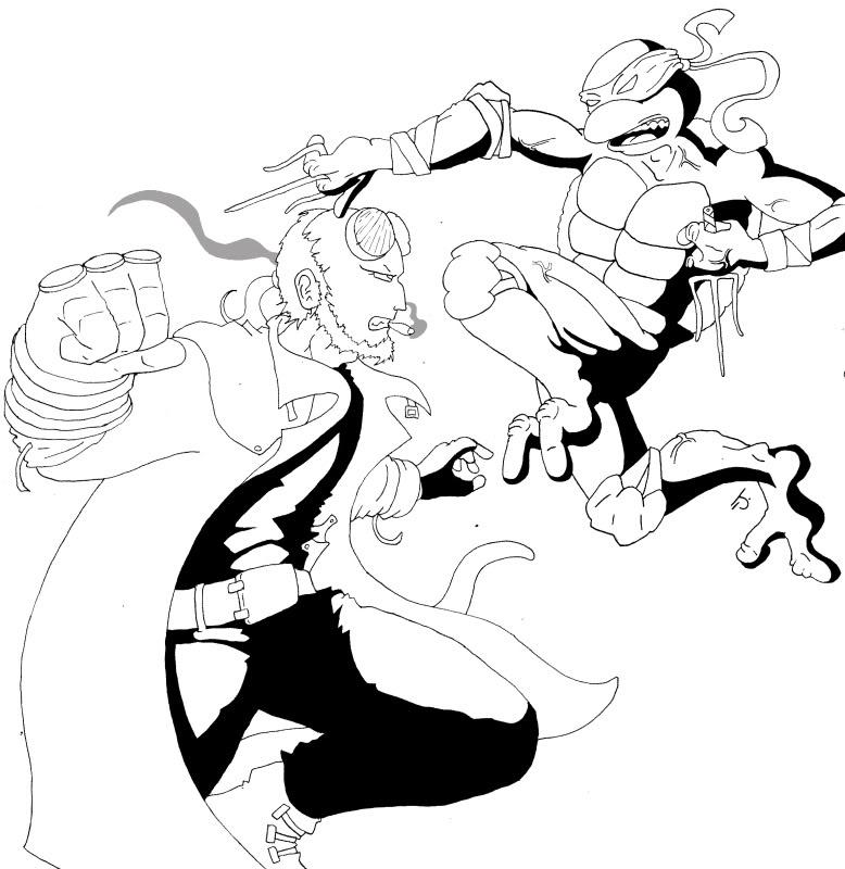 778x800 Hellboy Coloring Pages Hellboy Coloring Pages Futurama Coloring