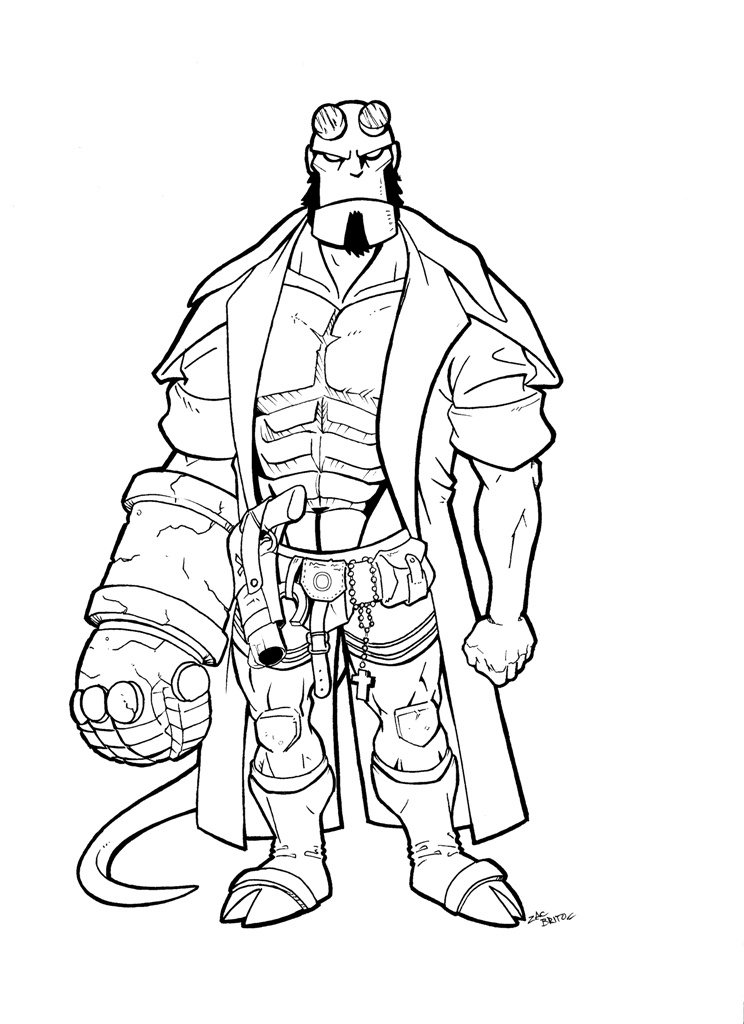 744x1024 Hellboy Coloring Pages Interesting Hellboy Coloring Pages Reviews