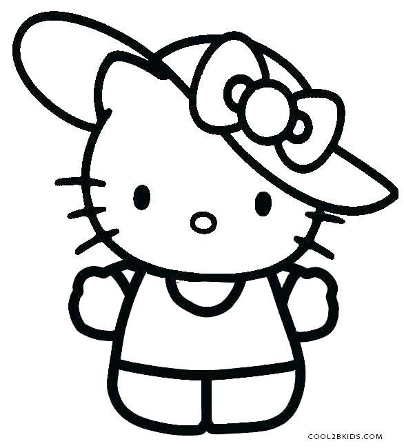 586x650 Hello Coloring Pages Hello Kitty Printouts Kids Coloring