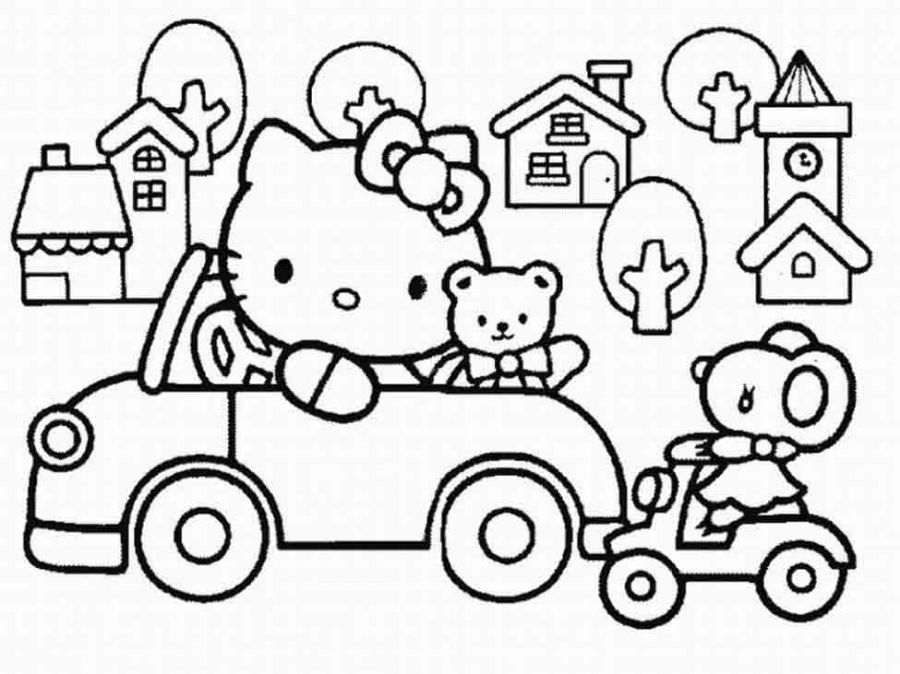 900x674 Hello Kitty Coloring Pages