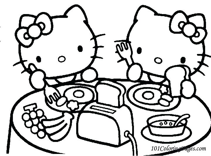 720x532 Hello Kitty Coloring Pages Free Printable Hello Kitty Popular